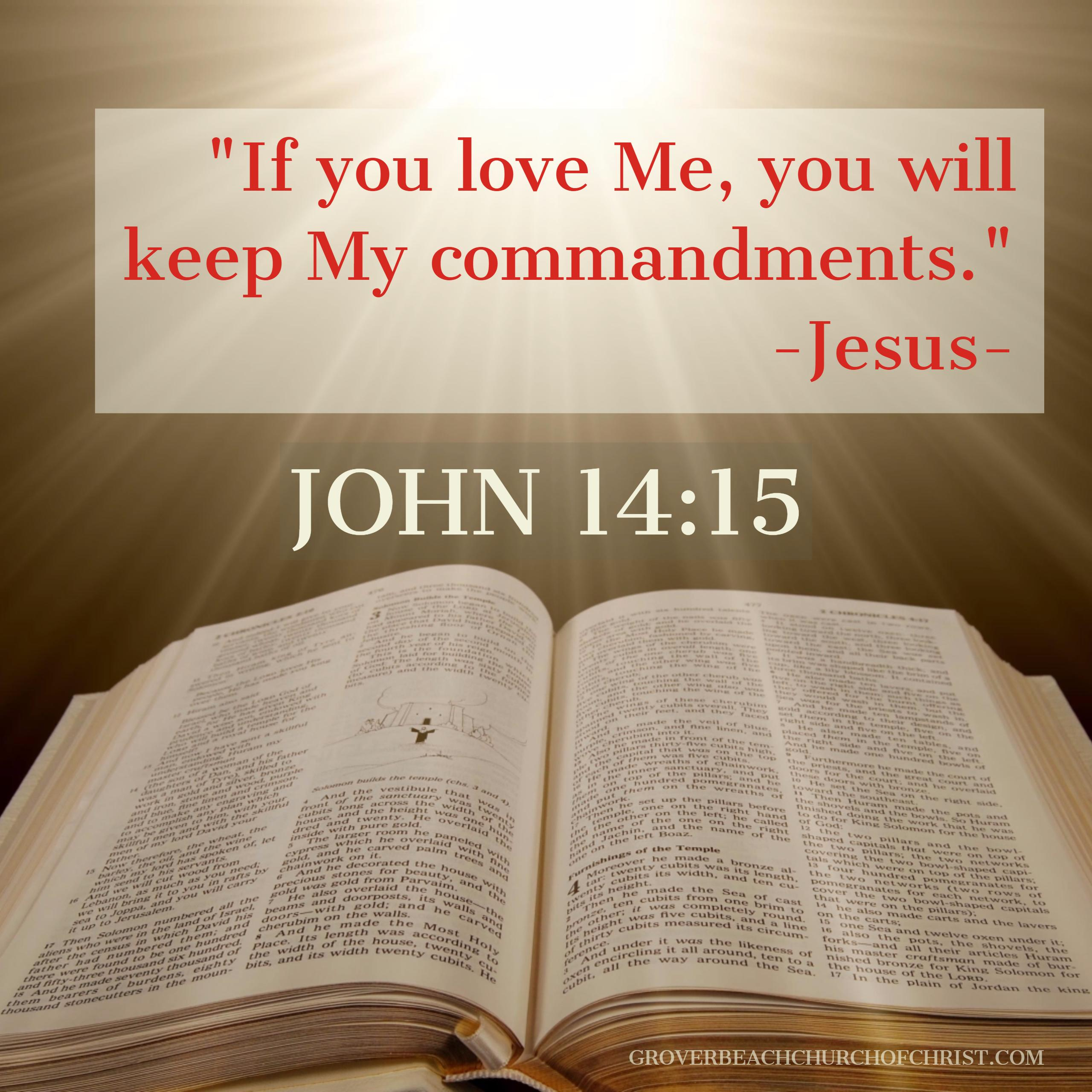John 14-15 If you love me you will keep my commandments