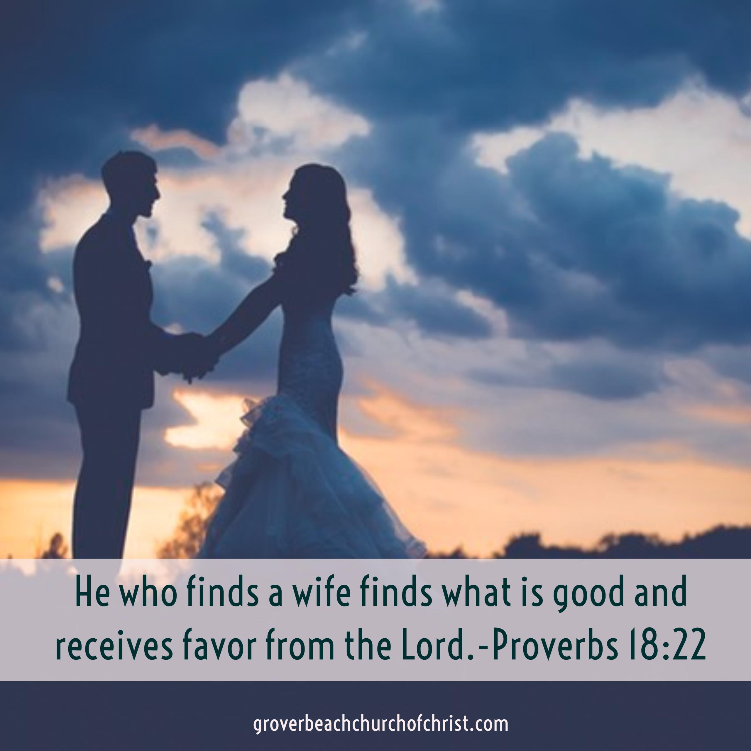 Proverbs 18-22 He who finds a wife