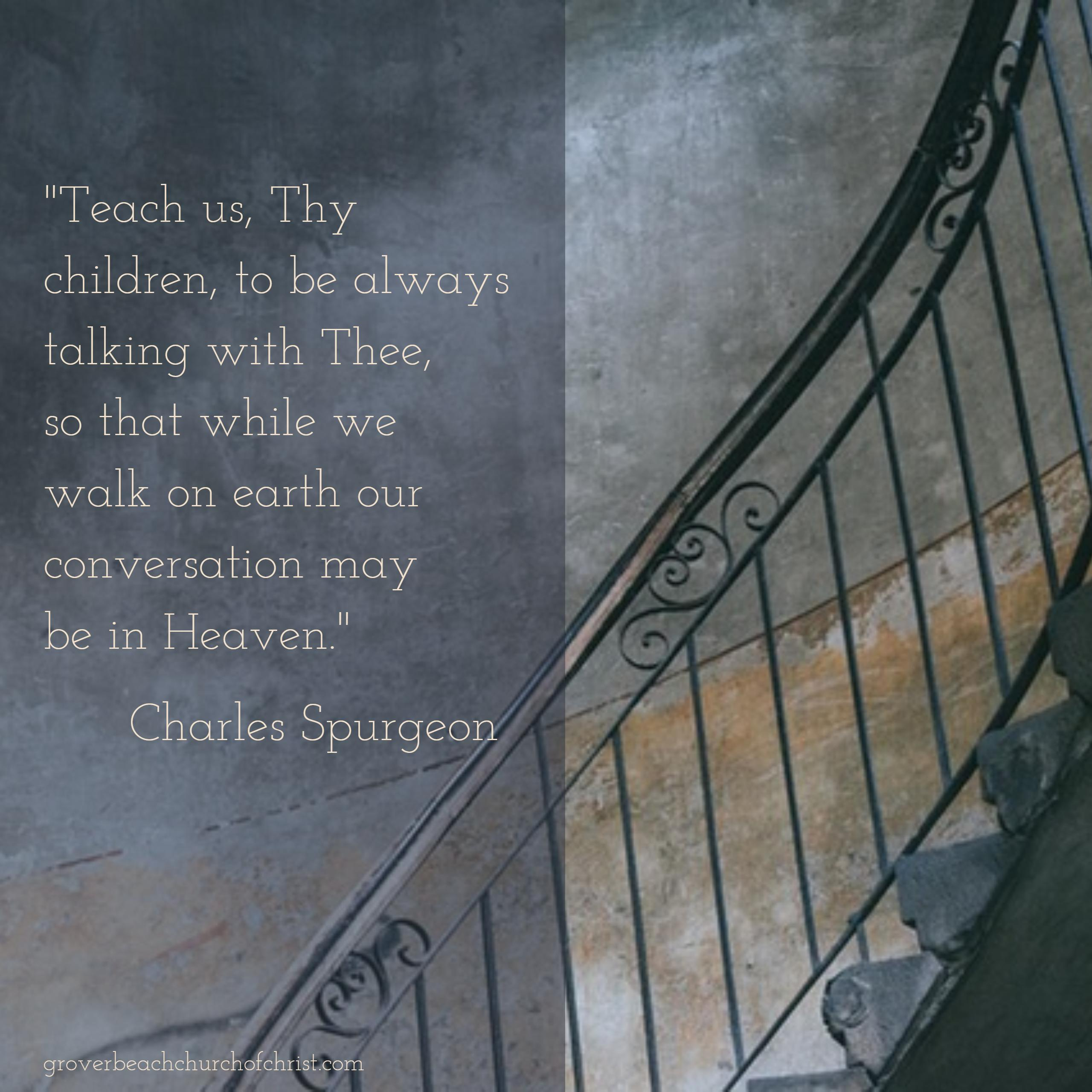 Spurgeon Teach us Thy children